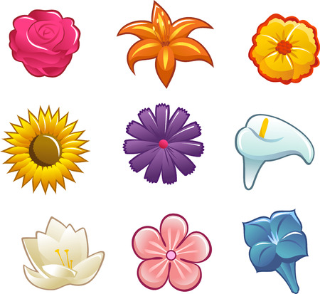 flower icon cartoon