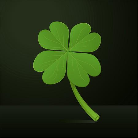 four leafs clover: Four leafs clover vector illustration. Illustration