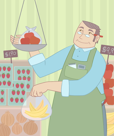 Service Worker at Grocery Store