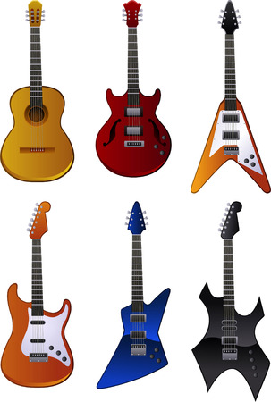 Guitar vector illustration collection Imagens - 33972964