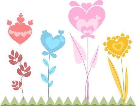 flowerbed: Heart shap flower garden
