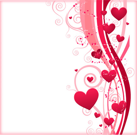 Hart lijnen ontwerp patroon vector illustratie. Stockfoto - 33972975