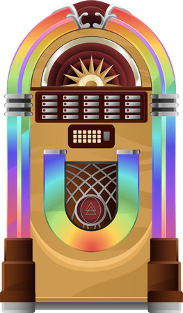 oldie: Vector Juke box on white Jukebox vector illustration.