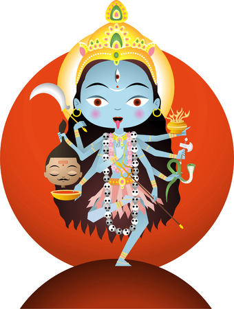 hindu god shiva: Hindu goddes Kali