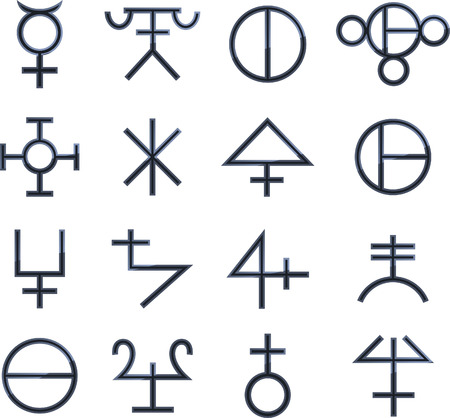runes: Magical Symbols Esoteric Magic vector illustration.