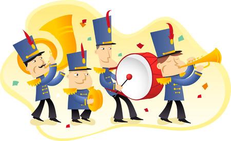 Marching band illustration  イラスト・ベクター素材