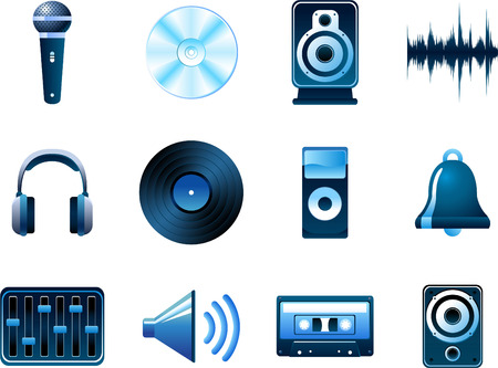 Music and sound recording icons