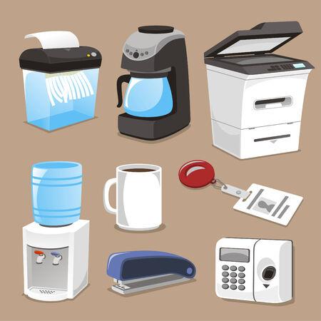 office stapler: Office supply elements vector illustration. Illustration