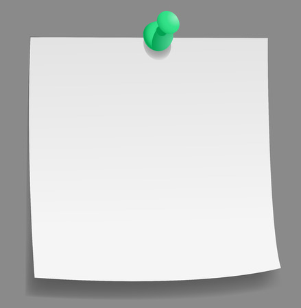 post-it note with push pin