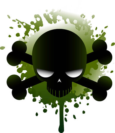Poisonous skull icon illustration