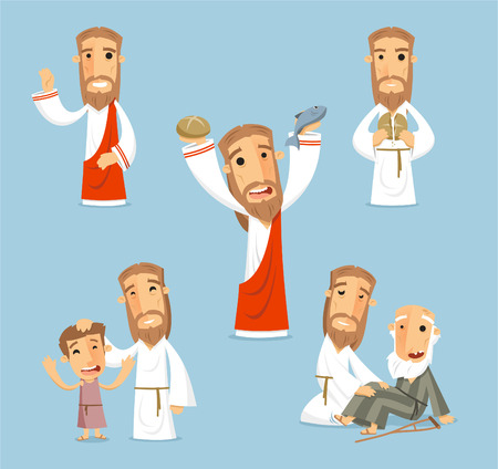 passion of the christ: Preaching jesus cartoon illustrations