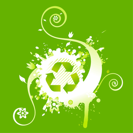 reprocess: Recycle symbol background design Illustration
