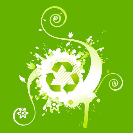 compost: Recycle symbol background design Illustration
