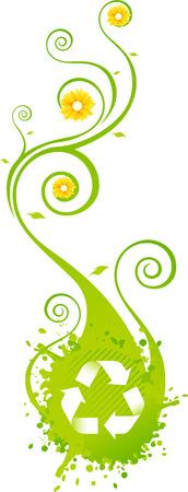 Recicle blosson icon background