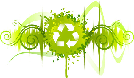 again: Recycle symbol background design Illustration