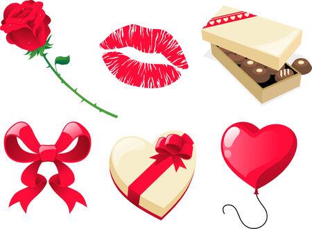 Valentijn dag cartoon pictogram cadeautjes Stockfoto - 33983472