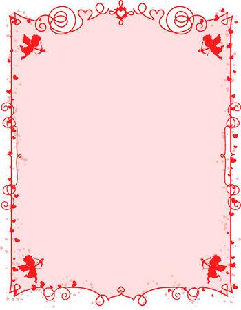 Romantic background frame