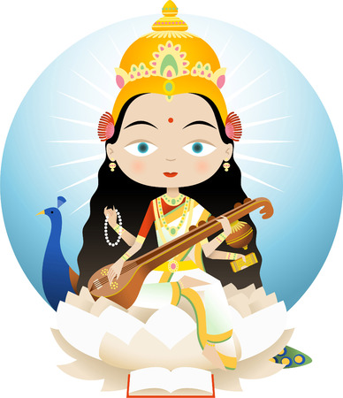 vedas: Saraswati In Hinduism is the goddess of knowledge, music and the arts. She is the consort of Brahma, Saraswati is considered to be the mother of the Vedas.
