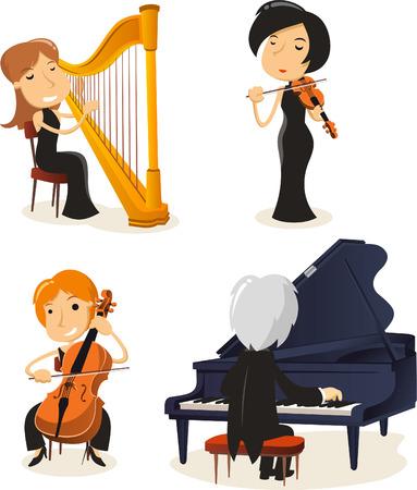 disharmony: Classical music string musicians