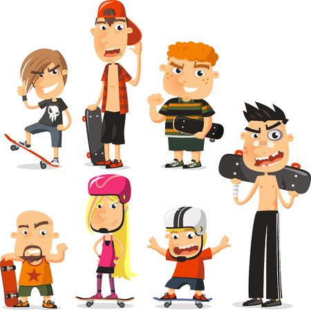 Skater cartoon  collection