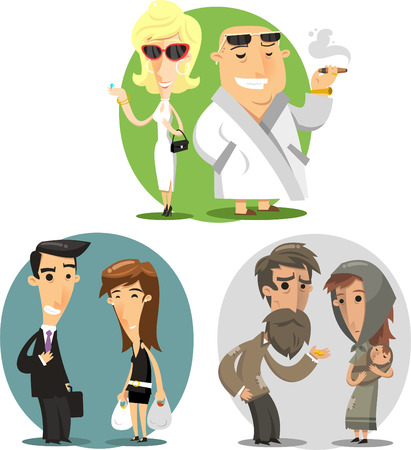 category: Social classes cartoon illustrations