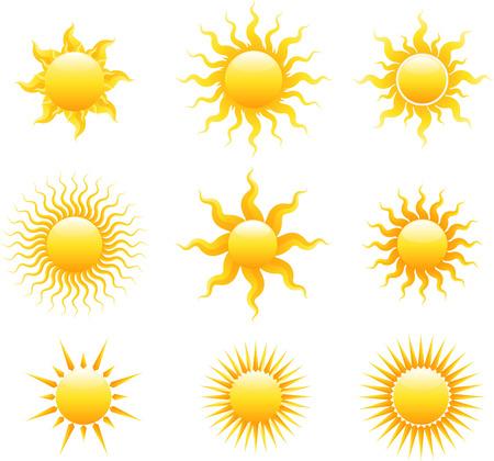 lit collection: Sun icon set