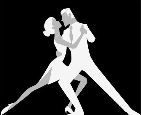 Sexy tango dansen silhouet