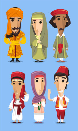 Turkish traditional costume clothing Vector