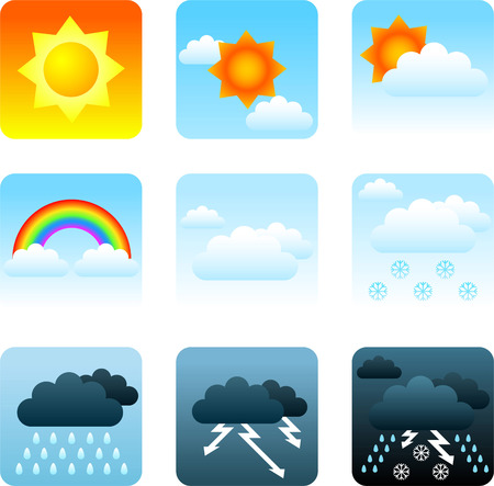 hailstorm: weather icon set Illustration