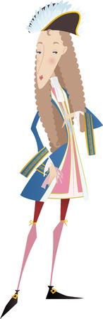 mozart: XVII century man illustration