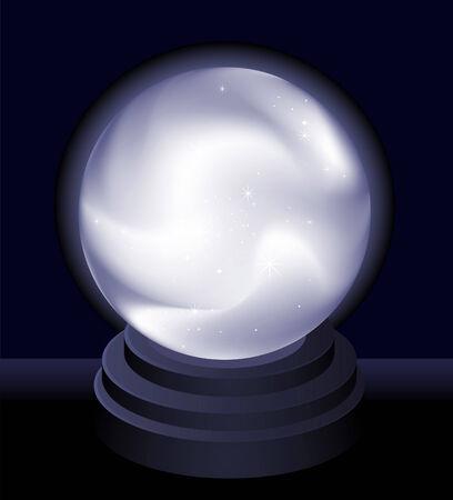 bola ocho: Magia Bola de cristal de Fortune teller ilustración vectorial