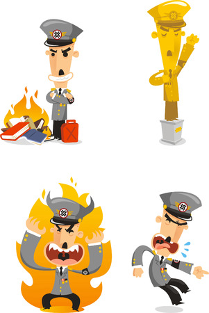 Dictator cartoon illustrations 矢量图像