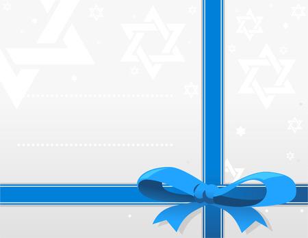 Jewish holliday card design illustration