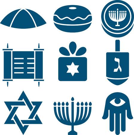 Jewish icon set 2 Vector