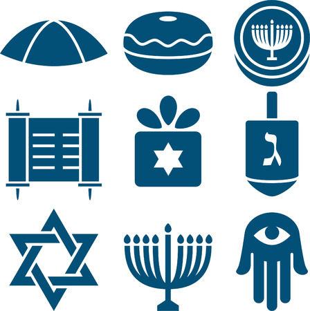 dreidel: Jewish icon set 2