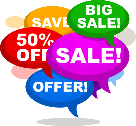 50 off: BIG SALE SAVE 50 OFF OFFER RETAIL SHOPPING, vector illustration cartoon.