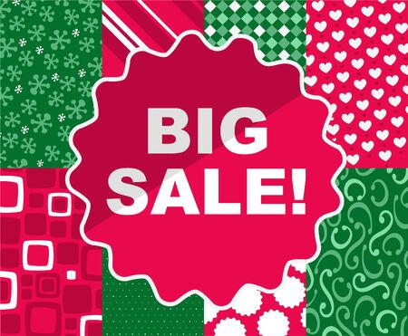 BIG SALE Christmas clearance retail deal time, vector illustration cartoon. Stock Vector - 34029749