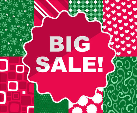 BIG SALE Christmas clearance retail deal time, vector illustration cartoon. Illustration
