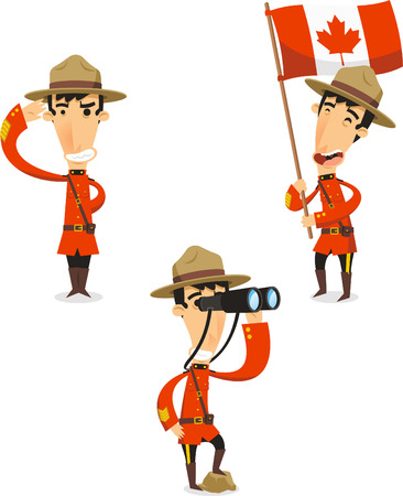 Canadese Ranger cartoon illustraties