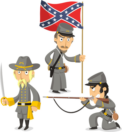 United States Civil War Army, vector illustration cartoon.