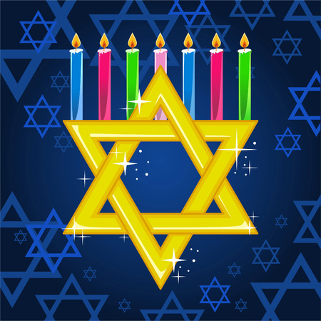hebrew script: Hannukah candles