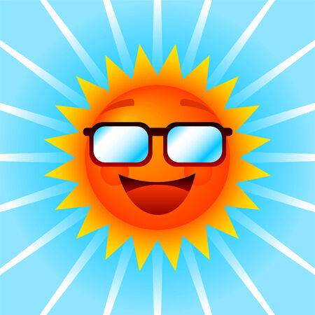 Smiling sun with shades