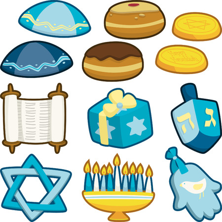 jewish ethnicity: Jewish icon set 3 Illustration