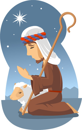 sheperd: Little sheperd of bethlehem Illustration