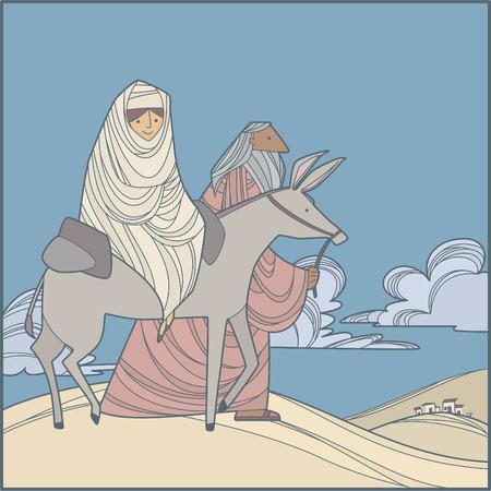 マリアとヨセフ エジプトへ行くこと