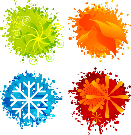 painterly effect: four seasons splash buttons.