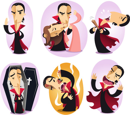 vampire cartoon set