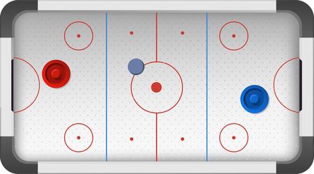 hockey rink: Hockey patines campo Pitch Ground ilustraci�n vectorial de dibujos animados. Vectores