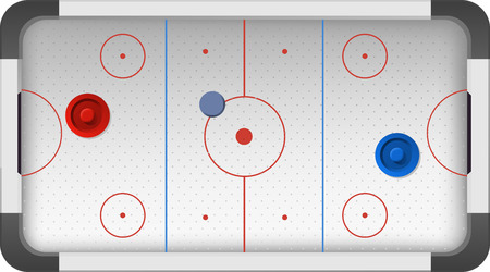 Hockey Rink Field Pitch Ground vector illustration cartoon.