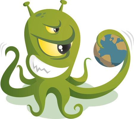 dominacion: Dibujos animados dominaci�n del mundo de Alien